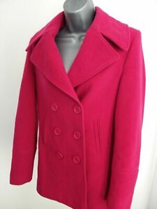 Womens Austin Reed Size Uk 10 Pink Cashmere Mix Winter Smart Overcoat Jacket Ebay