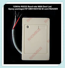 125KHz RS232 COM port Daul Led Epoxy Fulled EM4100/4102 RFID card pigtail READER