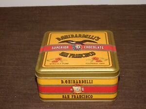 VINTAGE-KITCHEN-1993-D-GHIRARDELLI-039-S-CHOCOLATE-SAN-FRANCISCO-TIN-BOX-EMPTY