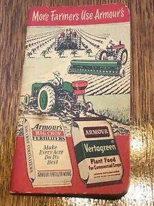 Armour's Big Crop Fertilizer Advertising Notebook 1952-53 farmers office vintage
