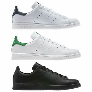 low priced 5cdd0 e1b90 Details about ADIDAS ORIGINALS STAN SMITH LEATHER TRAINERS WHITE, GREEN ,  BLUE, BLACK MENS
