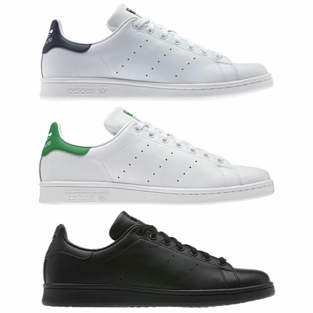 ADIDAS ORIGINALS STAN SMITH LEATHER TRAINERS WHITE, GREEN , BLUE, BLACK MENS