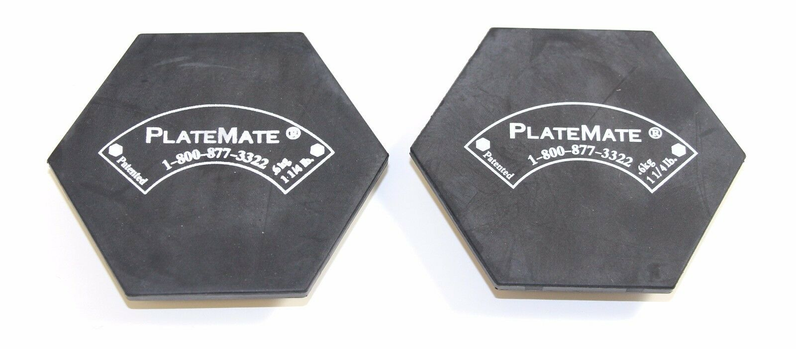 Platemates Microloading Weight Magnets - 1.25 lb. Hex - 1 Pair - NEW