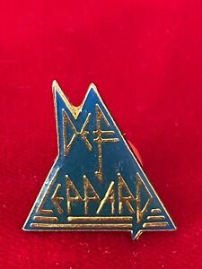"Def Leppard Font Logo Epoxy Lapel Pin Rock Band Heavy Metal Music 1"""