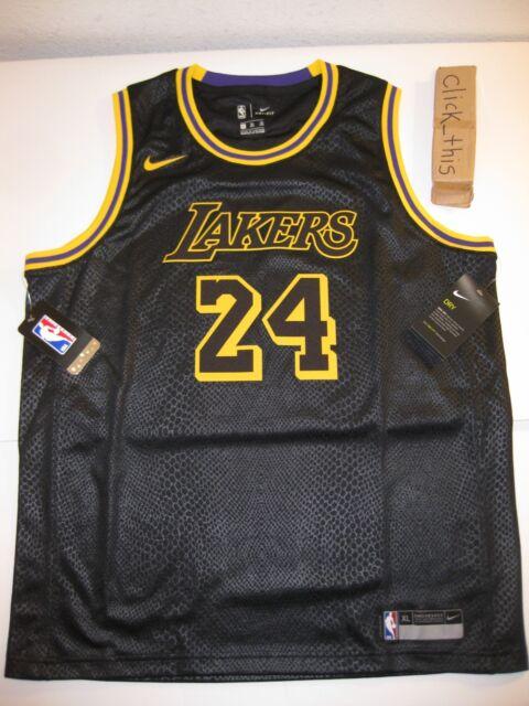 c53045cd81b Kobe Bryant Swingman Lakers Dri-fit Nike Jersey Youth Medium Black ...