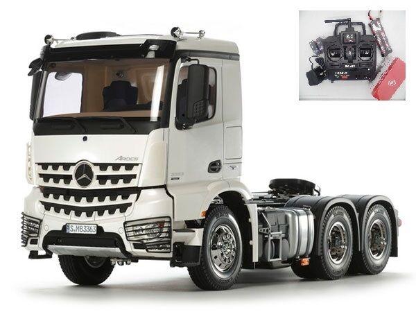 56352 Tamiya Mercedes Arocs 3363 Spazio Classico 6x4 R/C camion Kit Combo