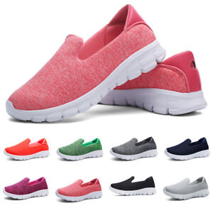 Ladies Running Trainers New Womens Slip on Lightweight Sports Shoes Sizes 4-8