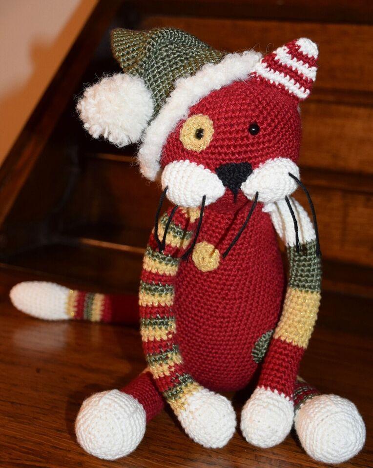 Hæklede jule-katte, håndarbejde