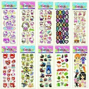 1//10pcs Bubble Stickers 3D Cartoon KIds Classic Toys School Sticker Reward G0F4