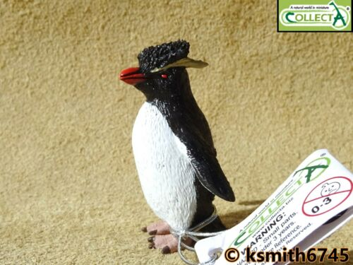 NEW CollectA ROCKHOPPER PENGUIN plastic toy wild zoo sea marine BIRD animal