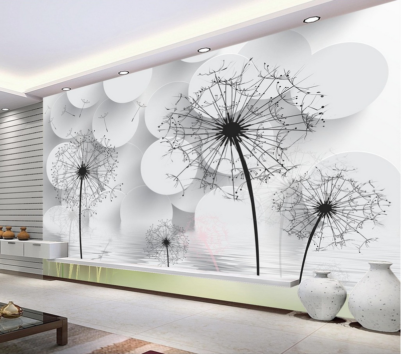 3D Dandelion Water 82 Wallpaper Mural Paper Wall Print Wallpaper Murals UK Lemon