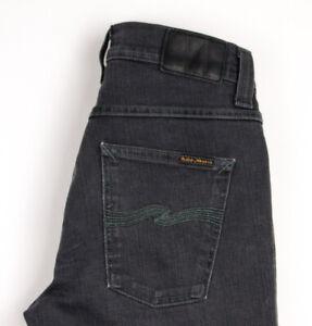 Nudie Jean Hommes Grim Tim Slim Jeans Extensible Taille W30 L32 APZ1278