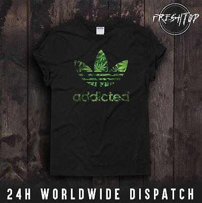 Aktiv Addicted T Shirt Bob Marley 420 Snoop Dogg Smoke Weed Everyday Ganja HöChste Bequemlichkeit