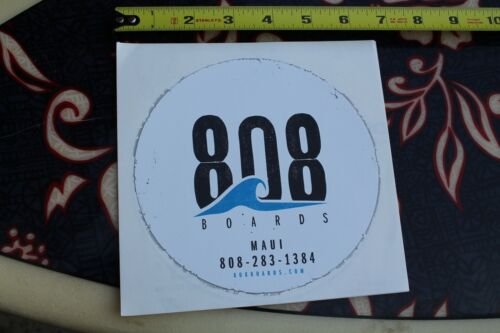 "808 BOARDS MAUI Hawaii wave 6"" Vintage SUNGLASSES Surfing Decal STICKER"