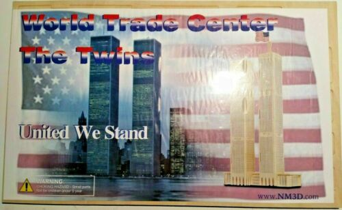 United We Stand NYC Twin Towers World Trade Center 3-D Balsa Wood Puzzle USA