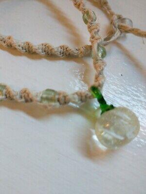 Handmade glass pumpkin beaded necklace