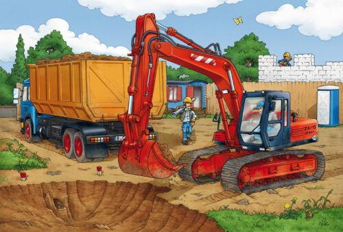 3 x 24 Teile Schmidt Spiele Kinder Puzzle Auf der Baustelle 56200