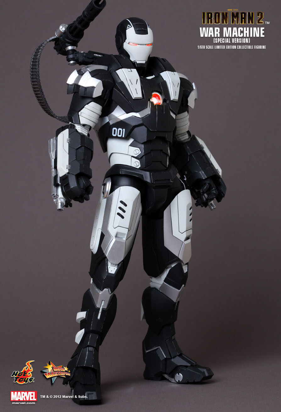 Hot Toys 16 De Marvel Iron Man 2 MMS166 máquina de guerra Versión Especial Figura de acción