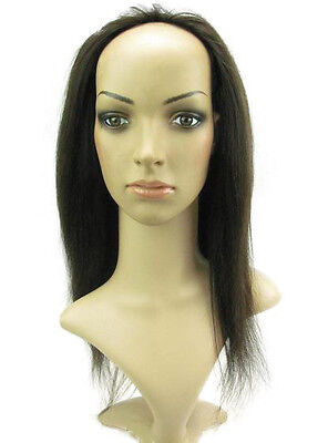 Machine weft cap Indian Remy Human Hair Glueless Half Wig Holiday Cosplay Wigs