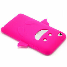 New Hot Pink Happy Angel Silicone Soft Case iPod Touch 4th Gen 4 Generation