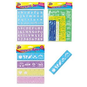 Stencil-Set-e-governanti-Lettere-dell-039-Alfabeto-Lettere-Stencil-per-numero-fornitore-UK