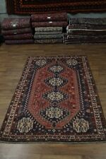 Delightful Tribal Handmade Shiraz Wool Persian Rug Oriental Area Carpet 6'6X9'9