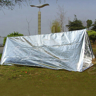 Outdoor Emergency First Aid Tent Reflective Film Wigwam Camping Trekking Tool