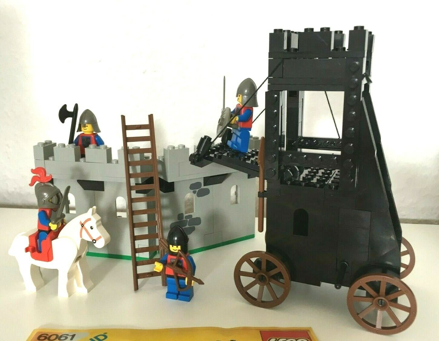 LEGO 6061 - Belagerungsturm - Ritter - Lion Knights - Siege Tower - vollständig
