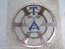 TA T.A. polished alloy Pro 5 Vis Tandem Reinforce 6-bolt Chainring 49-T NEW NIB