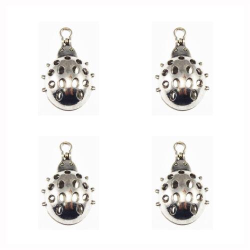 2pcs//Lot Silver Alloy 3D Hollow Ladybug Locket Aromatherapy Oil Diffuser Pendant