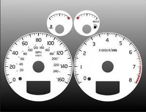 2000-2003-Volvo-S60-S70-S80-V70-Dash-Cluster-White-Face-Gauges-00-03