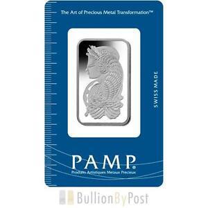 PAMP 1oz Platinum Bar Minted - Birmingham, United Kingdom - PAMP 1oz Platinum Bar Minted - Birmingham, United Kingdom