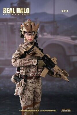 1//6 Female Soldier Figure Seal HALO Navy Sepical Force Combat Girl mini times