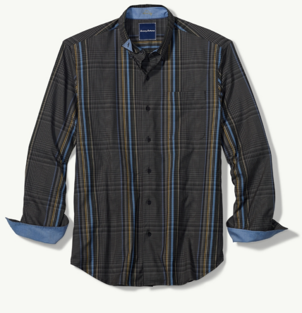 c83cc6d7ccb Buy Tommy Bahama LS Shirt Glen There Done That Black Small S Plaid ...