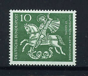 ALEMANIA-RFA-WEST-GERMANY-1961-MNH-SC-823-St-George-patron-of-Boy-Scouts
