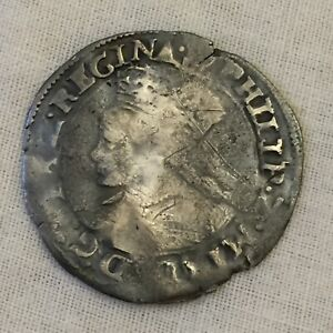 Philip and Mary silver hammered groat