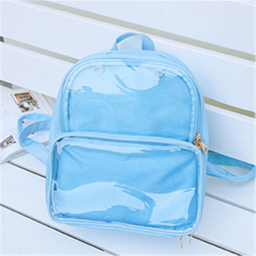 7 Colors CLEAR ita bag Transparent itabag Pin Display Backpack school bags New