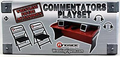 rouge Ringside Exclusive Wrestling Figure Accessoires Les commentateurs Playset