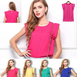 New-Fashion-Women-Loose-Chiffon-Tee-Tops-Short-Sleeve-Shirt-Casual-Korean-Blouse