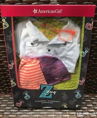 American Girl Z Yang/'s Accessories Jacket Glasses Scarf NEW in AG Box