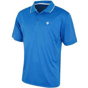 Island Green Mens Coolpass Golf Polo (Moisture Wicking - Marine Blue)