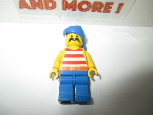 Minifigures Lego Red /& White Stripes Blue Legs Blue Bandana pi040 Pirates
