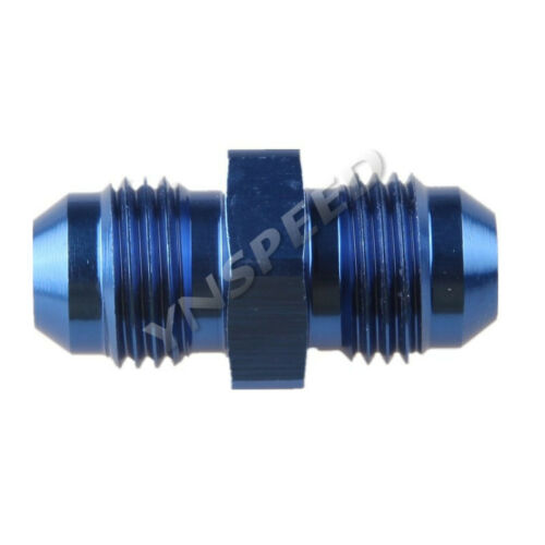 AN Male Flare Union Fitting Adapter Straight Aluminum AN3 4 6 8 10 12 16 20