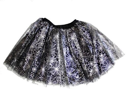 Perfect for Halloween Zac/'s Alter Ego® 3-Layer Cobweb Design Tutu Skirt