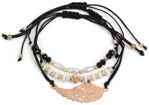 Anhänger Schmuck Glitzersteine Damen Stoff Armband 3er Set Flügel Strass-Perlen