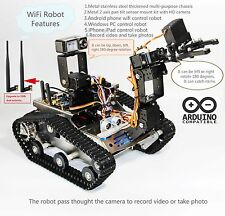 Arduino WiFi Video Stainless Steel Metal Crawler Robot kit (Style one)
