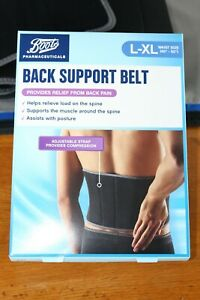 Boots-Back-Support-Belt-L-XL-Waist-40-50-034-Provides-Relief-From-Back-Pain-BNIB