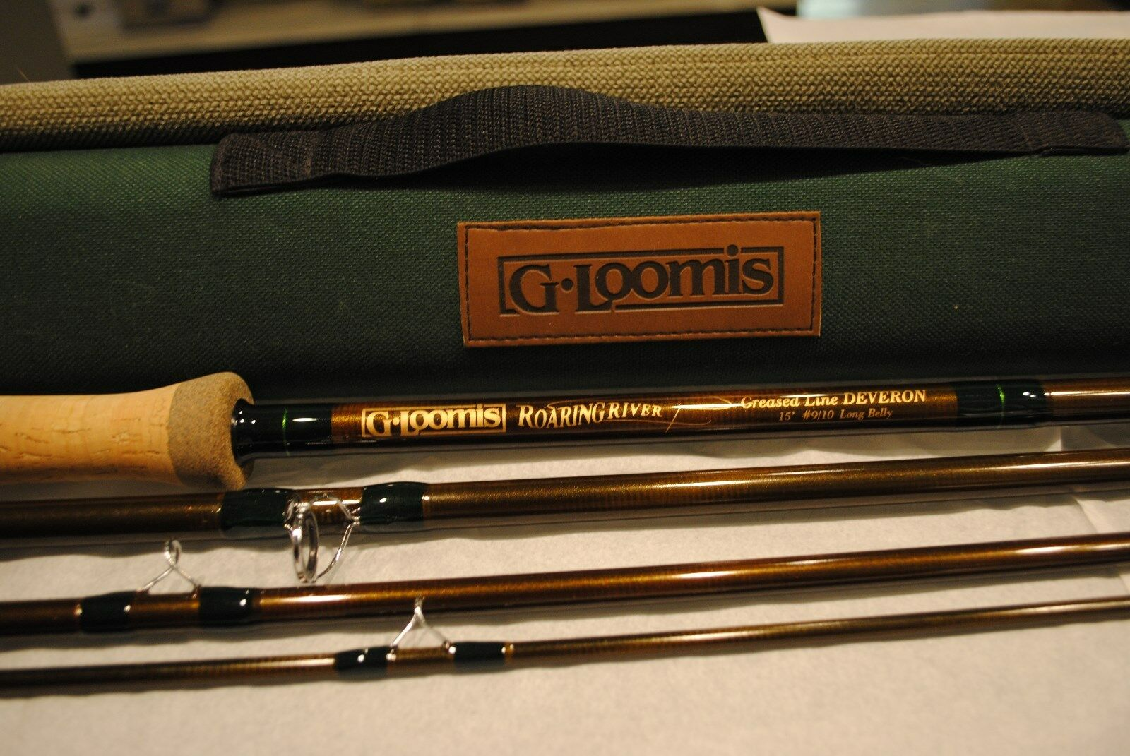 G Loomis 15' Belly Fishing Spey GLX Rod  Pole 4 Piece 2 Handed w Hard & Soft Case  cheapest price