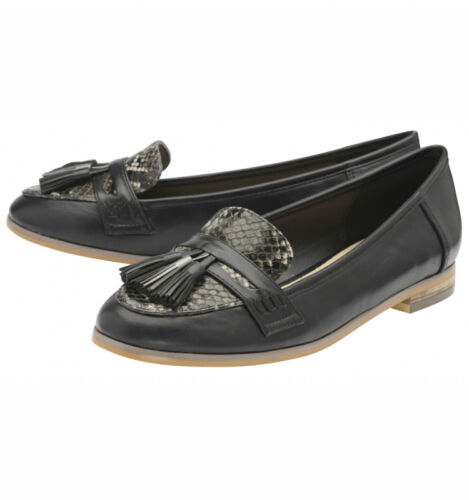 Tully Uk Leather Synthetic Shoes Flat 7 Loafers Dolcis Black Flats Ladies fw45P5