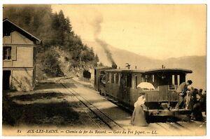 CPA-73-Savoie-Aix-les-Bains-Chemin-de-fer-du-Revard-La-gare-de-Pre-Japert-train